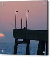 On The Pacifica Pier At Sunset Acrylic Print