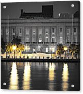 On The River At The Courthouse Acrylic Print