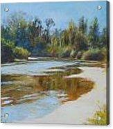 On The River Acrylic Print by Nancy Stutes