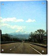 On The Road To Mount Hood Acrylic Print