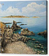 On The Rocks In The Old Part Of Sozopol Acrylic Print