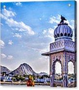 On The Shores Of Pushkar Lake Acrylic Print
