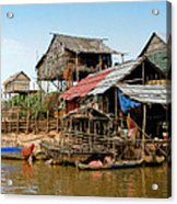 On The Shores Of Tonle Sap Acrylic Print