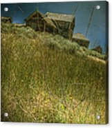 On The Top Of Grassy Hill Acrylic Print