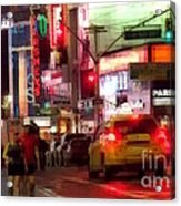 On The Town - Times Square Acrylic Print