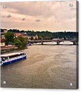 On The Vltava River - Prague Acrylic Print