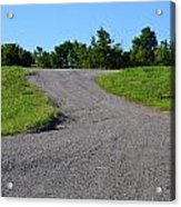 On To The Gravel Road Acrylic Print