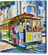 On Tram In San Francisco Acrylic Print by Yury Malkov