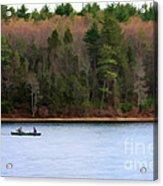 On Walden Pond Acrylic Print by Jayne Carney