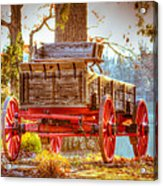 Wagon - Rustic - Once Upon A Time Before Pickups Acrylic Print