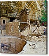One End Of Spruce Tree House On Chapin Mesa In Mesa Verde National Park-colorado Acrylic Print