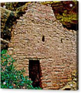 One Entry To Spruce Tree House On Chapin Mesa In Mesa Verde National Park-colorado  Acrylic Print