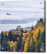 One Foggy Fall Day At Crown Point Acrylic Print