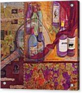 One Glass Too Many - Cabernet Acrylic Print by Debi Starr