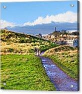 One Golden Day In Edinburgh's Holyrood Park Acrylic Print