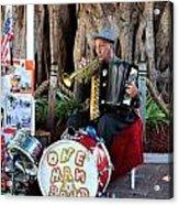 One Man Band - Miami Florida Acrylic Print