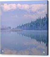 One Mile Lake, Near Pemberton, Bc In Acrylic Print