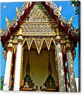 One Of Many Pagodas In Bangkok-thailand Acrylic Print