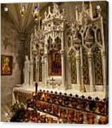 One Of The Twelve Stations Of The Cross In St Patricks Cathedr Acrylic Print