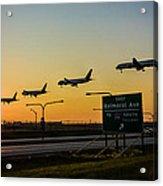 One Plane Landing At O'hare Acrylic Print