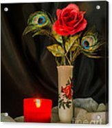 One Red Christmas Rose Acrylic Print