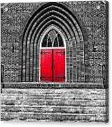 One Red Door Acrylic Print