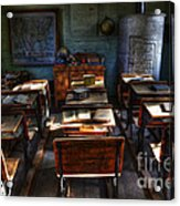 One Room School House Acrylic Print by Bob Christopher