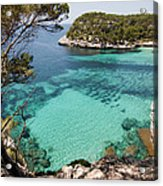 One Step To Paradise - Cala Mitjana Beach In Menorca Is A Turquoise A Cristaline Water Paradise Acrylic Print