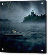 One Stormy Night In Maine Acrylic Print by Edward Fielding