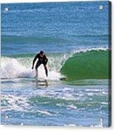 One Surfer Acrylic Print