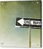 One Way Road Sign Acrylic Print