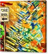 One Way Street Acrylic Print