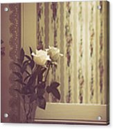 One White Rose Acrylic Print