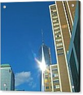 One World Trade Center Acrylic Print by Dan Sproul