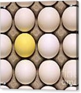 One Yellow Egg With White Eggs Acrylic Print