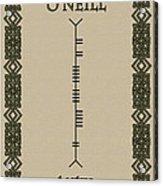O'neill Written In Ogham Acrylic Print