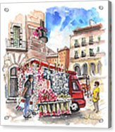 Onion And Garlic Street Seller In Siracusa Acrylic Print