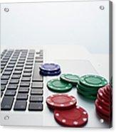 Online Gambling Acrylic Print