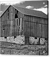 Ontario Barn Monochrome Acrylic Print