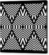 Op Art Black White Pattern Print No.336. Acrylic Print by Drinka Mercep