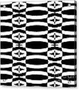 Op Art Geometric Black White Pattern Abstract No.290. Acrylic Print