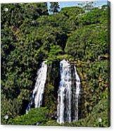 Opaekaa Falls In Kauai Acrylic Print