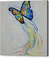 Opal Butterfly Acrylic Print by Michael Creese