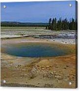 Opal Pool Panorama Yellowstone Acrylic Print