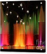 Open Air Theatre Rainbow Fountain Acrylic Print