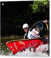 Open Canoe Whitewater Race - Panorama Acrylic Print