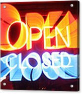 Open Closed Acrylic Print