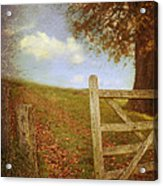 Open Country Gate Acrylic Print