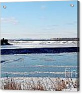 Open Creek - Ice Fishing - Winter Acrylic Print