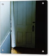 Open Door In Dark Hall Acrylic Print